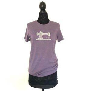 Tops - Purple Graphic Seamstress Sew Machine T Shirt